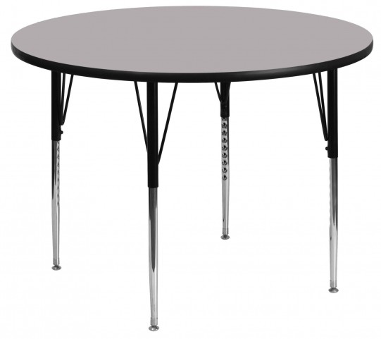 "48"" Round Gray Activity Table"