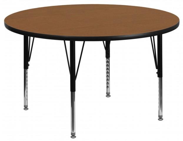"""48"""" Round Pre-School Oak Activity Table"""