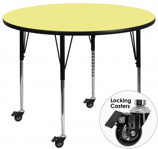 "Mobile 48"" Round Yellow Activity Table"