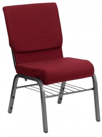 Hercules Series Burgundy Fabric Church Chair