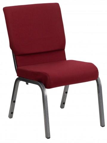 Hercules Series Burgundy Fabric Stacking Church Chair