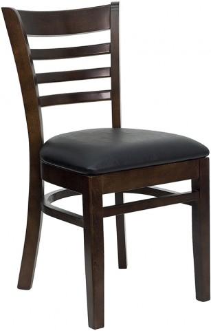 6589 Hercules Walnut Finished Ladder Back Wooden Restaurant Chair