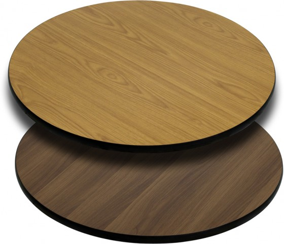 24'' Round Table Top with Natural or Walnut Reversible Laminate Top