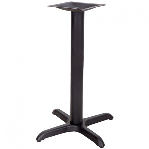 22'' x 22'' Restaurant Table X-Base with 3'' Table Height Column