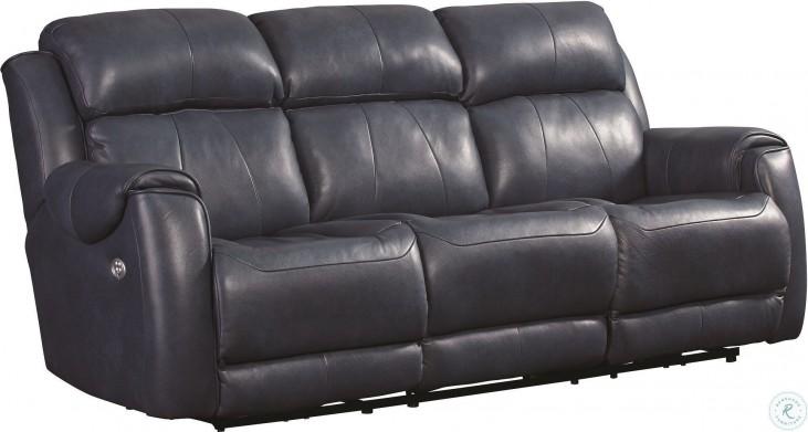 Safe Bet Ultramarine Power Headrest Reclining Living Room Set