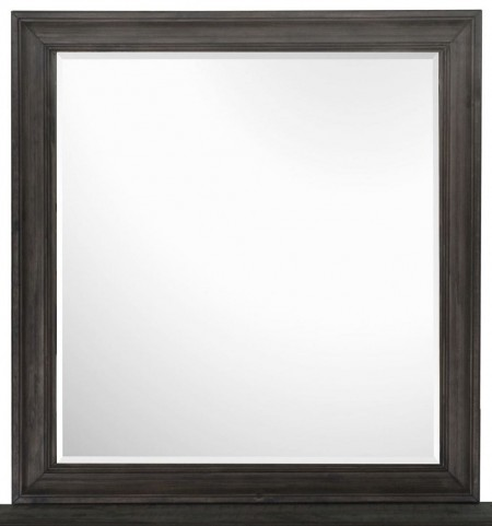 Calistoga Weathered Charcoal Portrait Mirror
