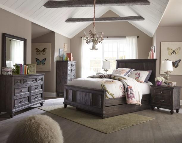 Calistoga Weathered Charcoal Youth Trundle Panel Bedroom Set