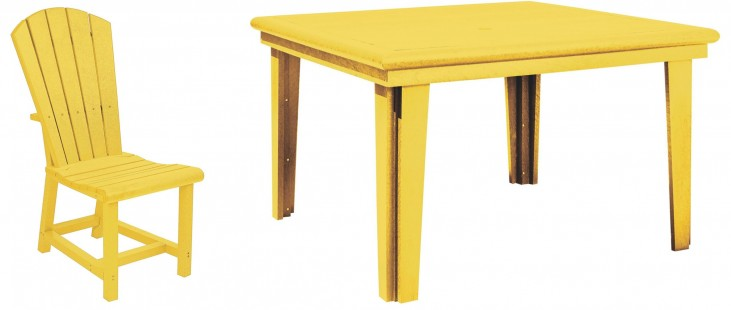 """Generations Yellow 46"""" Square Dining Room Set"""