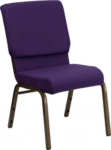 "Hercules Series 18.5"" Wide Royal Purple Fabric Stacking Church Chair"