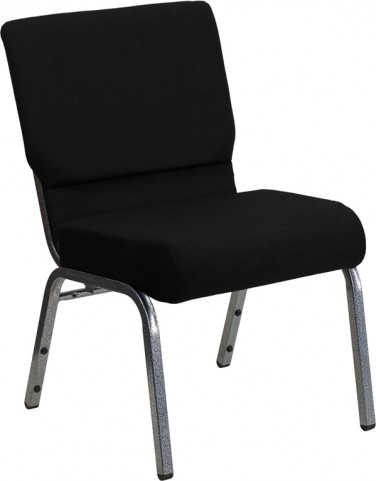 Hercules Series Extra Wide Black Stacking Church Chair