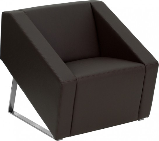 Hercules Smart Series Brown Leather Reception Chair