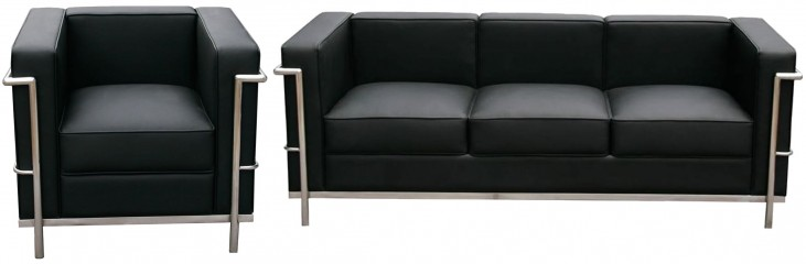 Cour Italian Leather Living Room Set
