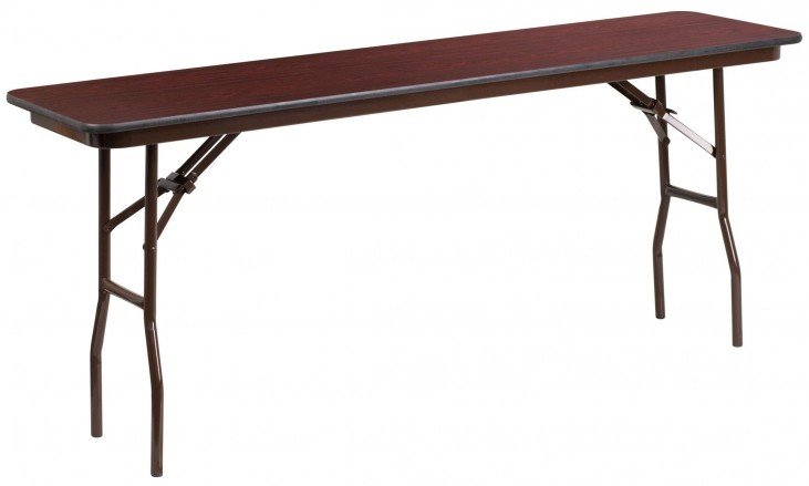 "72"" Rectangular High Pressure Laminate Folding Training Table"