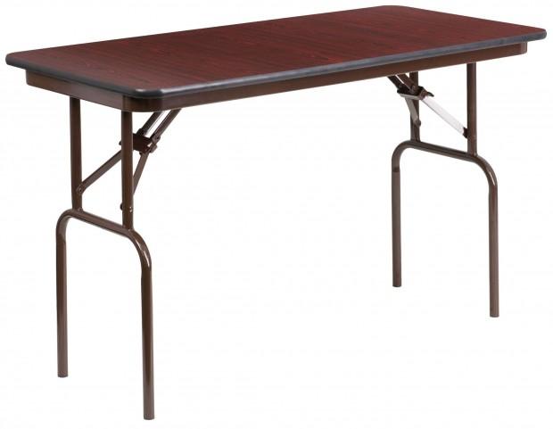 "48"" Rectangular High Pressure Laminate Folding Banquet Table"