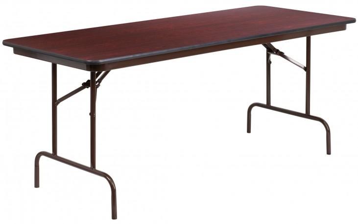 "30""W Rectangular High Pressure Laminate Folding Banquet Table"