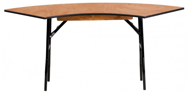 WSFT48-24 Serpentine Wood Folding Banquet Table