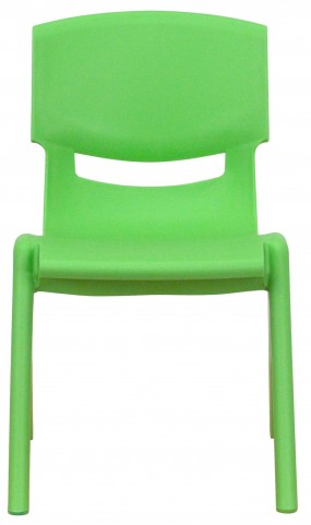 "22""H Green Plastic Stackable School Chair"