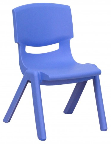 "20""H Blue Plastic Stackable School Chair"
