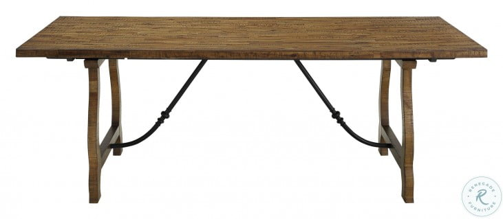 Yuma Beige And Distressed Honey Dining Table