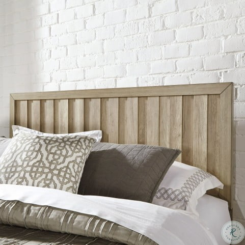 Barnwood Brown Cal King Panel Bed