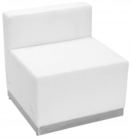 Hercules Alon Series White Leather Chair