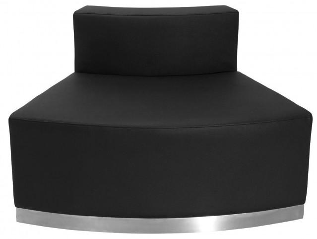 Hercules Alon Series Black Leather Convex Chair