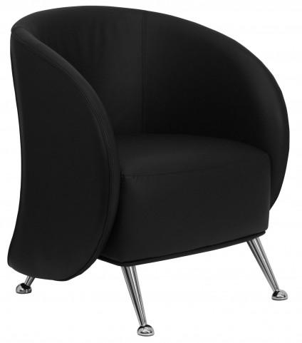 Hercules Jet Series Black Leather Reception Chair