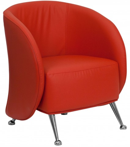 Hercules Jet Series Red Leather Reception Chair