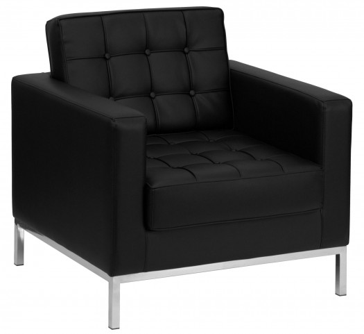 Hercules Lacey Series Black Leather Chair