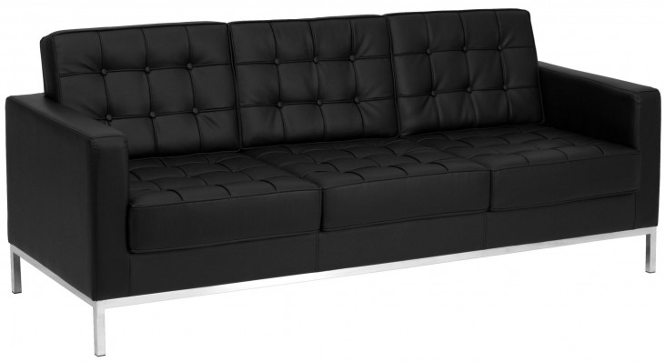 Hercules Lacey Series Black Leather Sofa