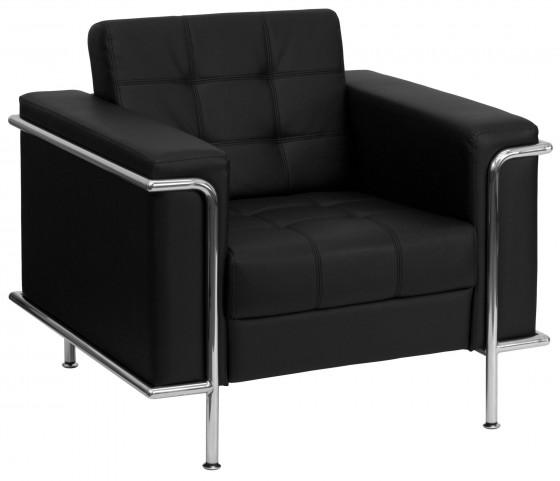 Hercules Lesley Series Black Leather Chair