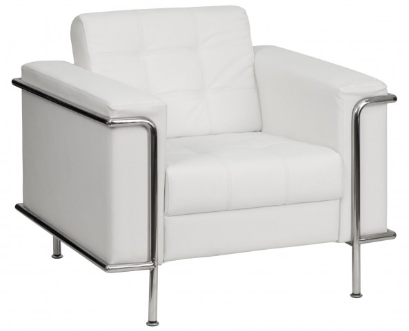 Hercules Lesley Series White Leather Chair