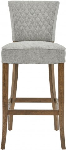 Quilted Gray and Brown Bar Stool Set of 2