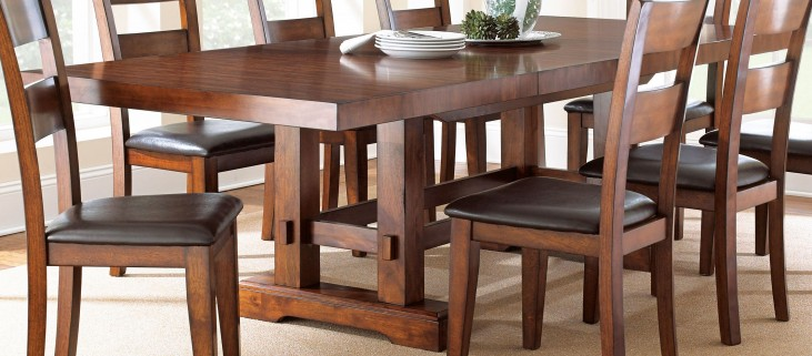 Zappa Medium Cherry Extendable Rectangular Dining Table