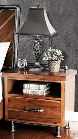brand new bde64 6dc1c Steampunk Brown Nightstand