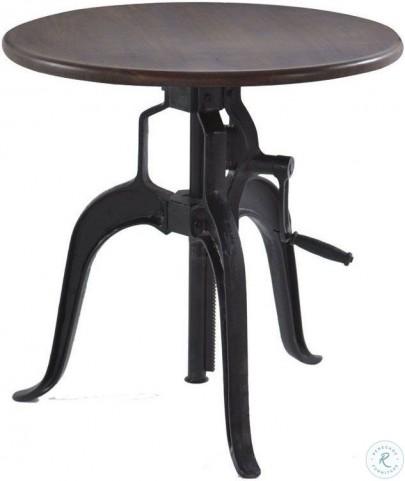 Artezia Acacia Small Adjustable Crank Side Table