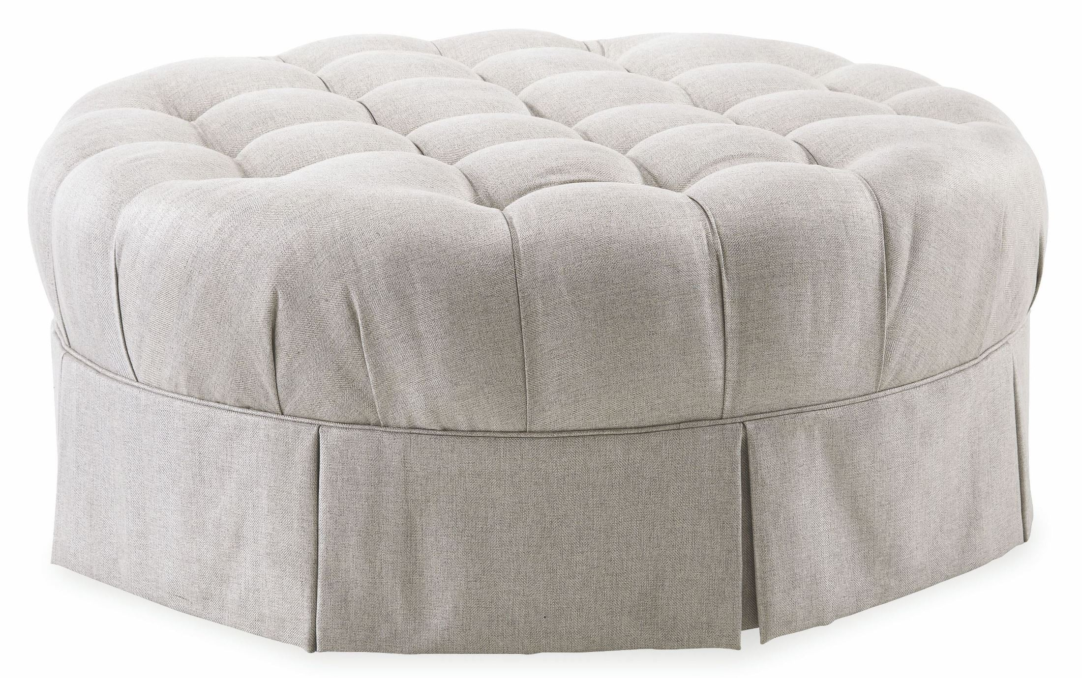 Ava Grey Round Tufted Top Ottoman From Art 513524 5001aa
