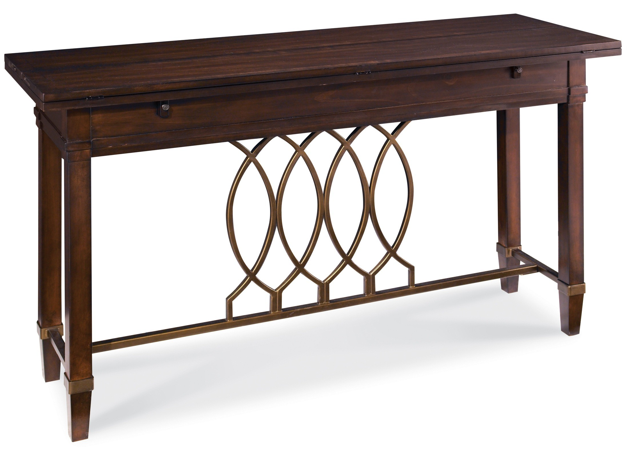 Intrigue flip top sofa table from art 161307 2636 for 5 sofa table