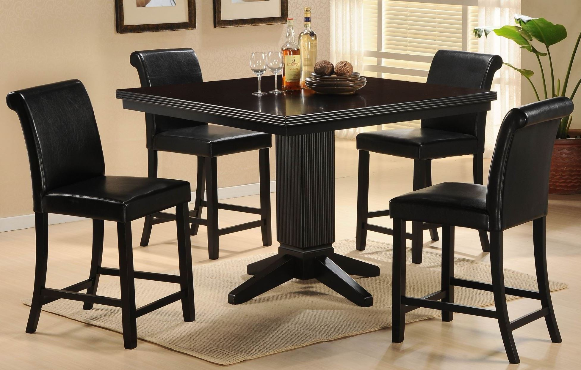papario nook counter height dining room set from homelegance 5351 36 coleman furniture. Black Bedroom Furniture Sets. Home Design Ideas