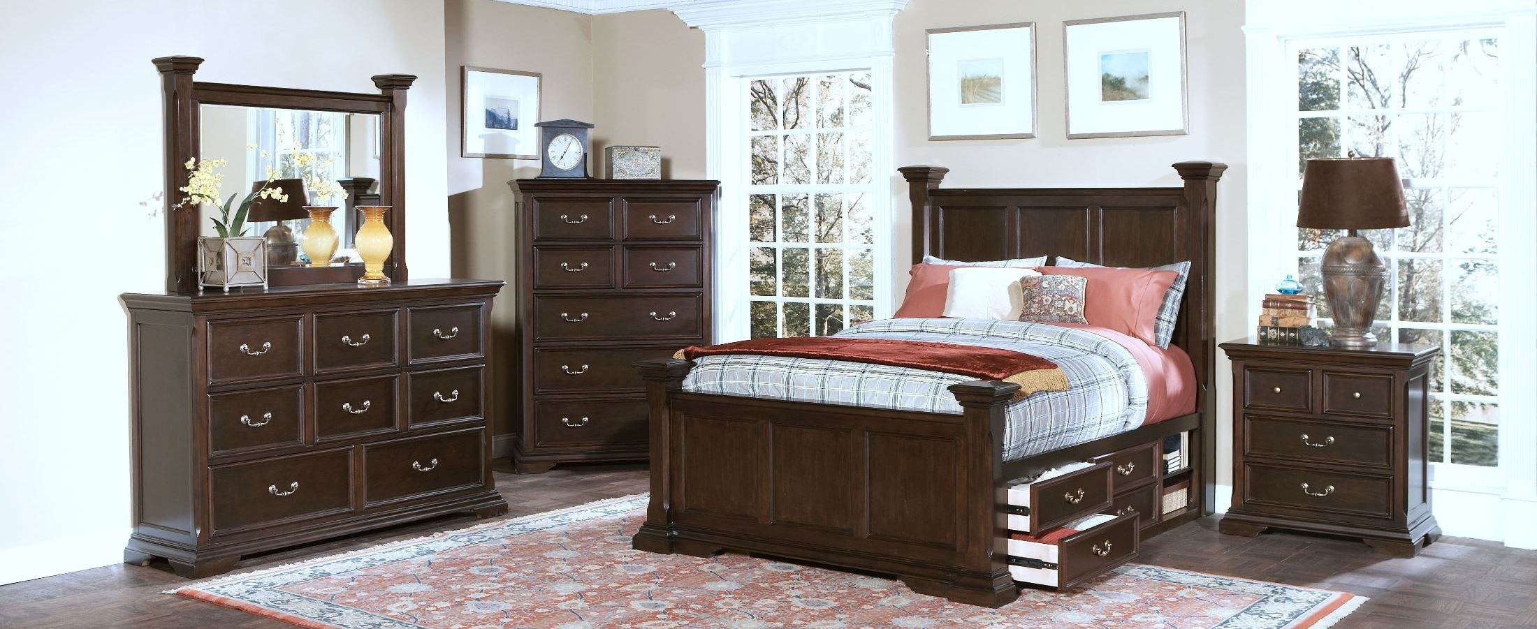 Timber City Sable Poster Storage Bedroom Set From New