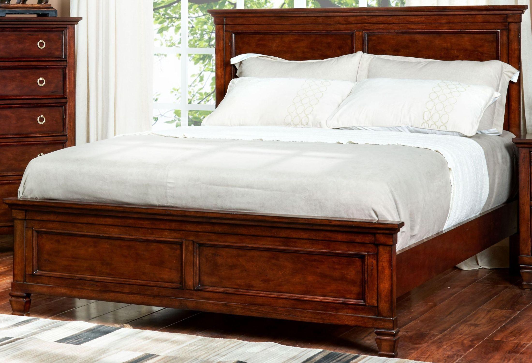 Tamarack Brown Cherry Queen Panel Bed from New Classic | Coleman ...