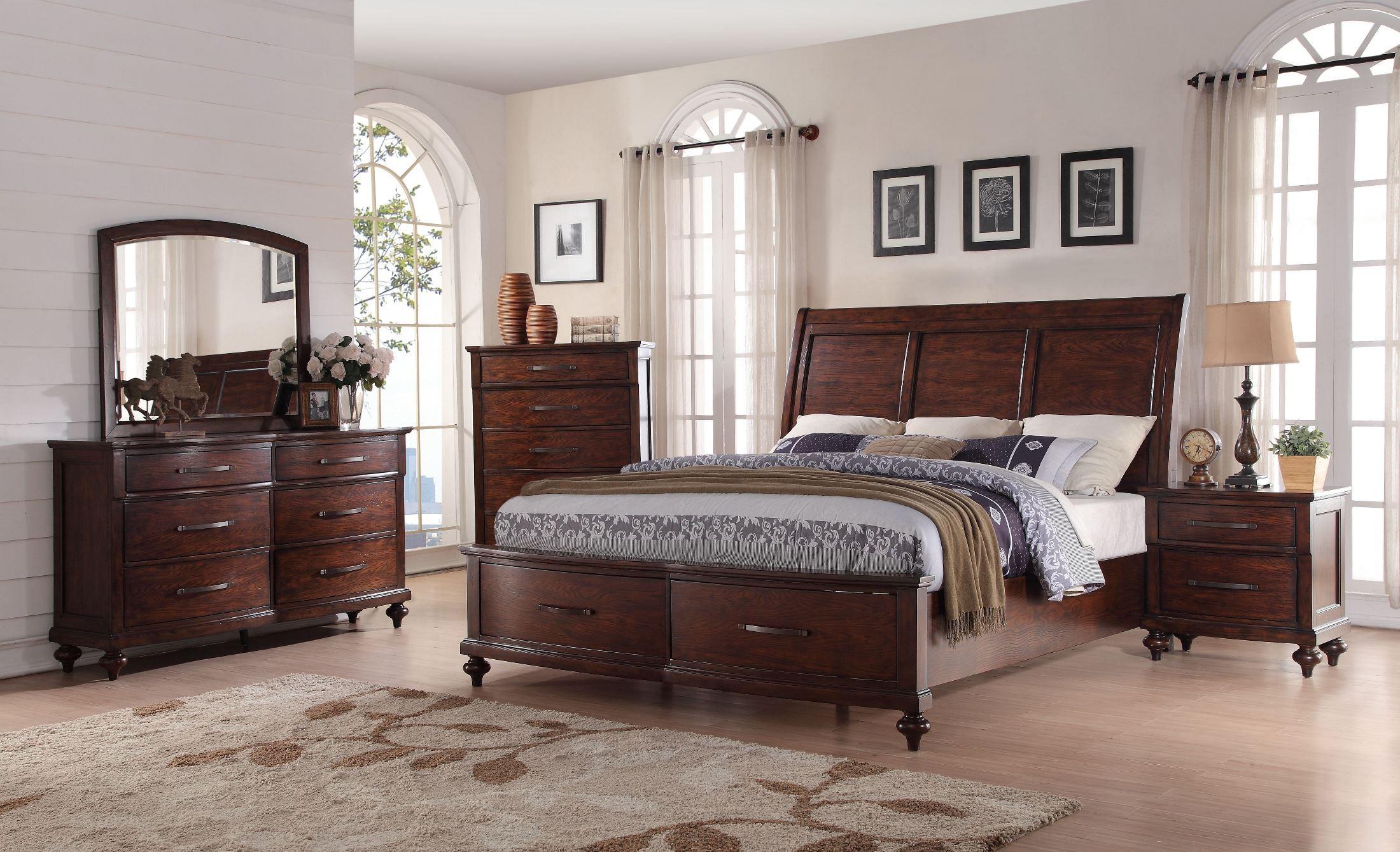 La Jolla Ranchero Brown Sleigh Storage Bedroom Set From New Classic Coleman Furniture
