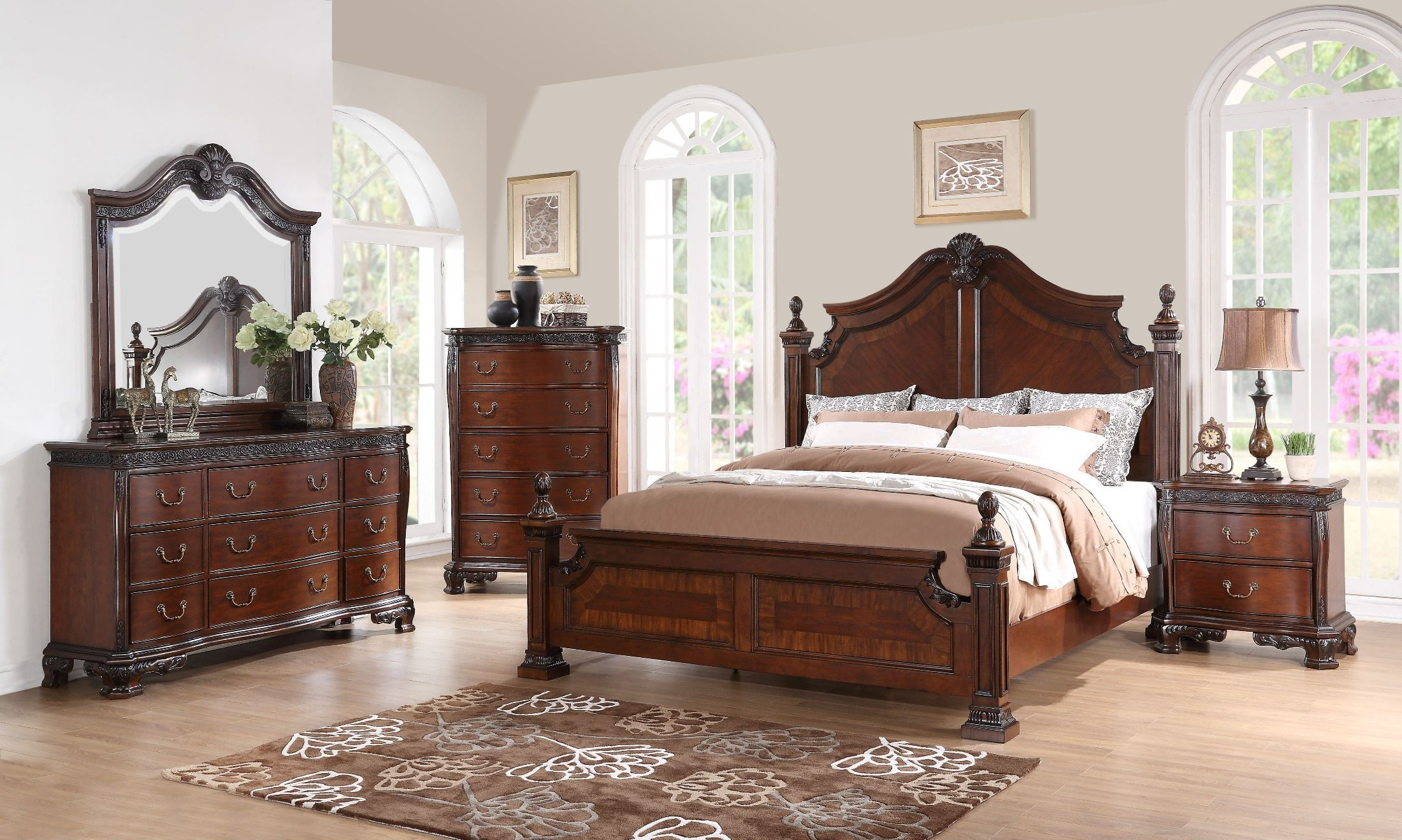 classic bedroom sets elsa mahogany poster bedroom set from new classics b1404 11135