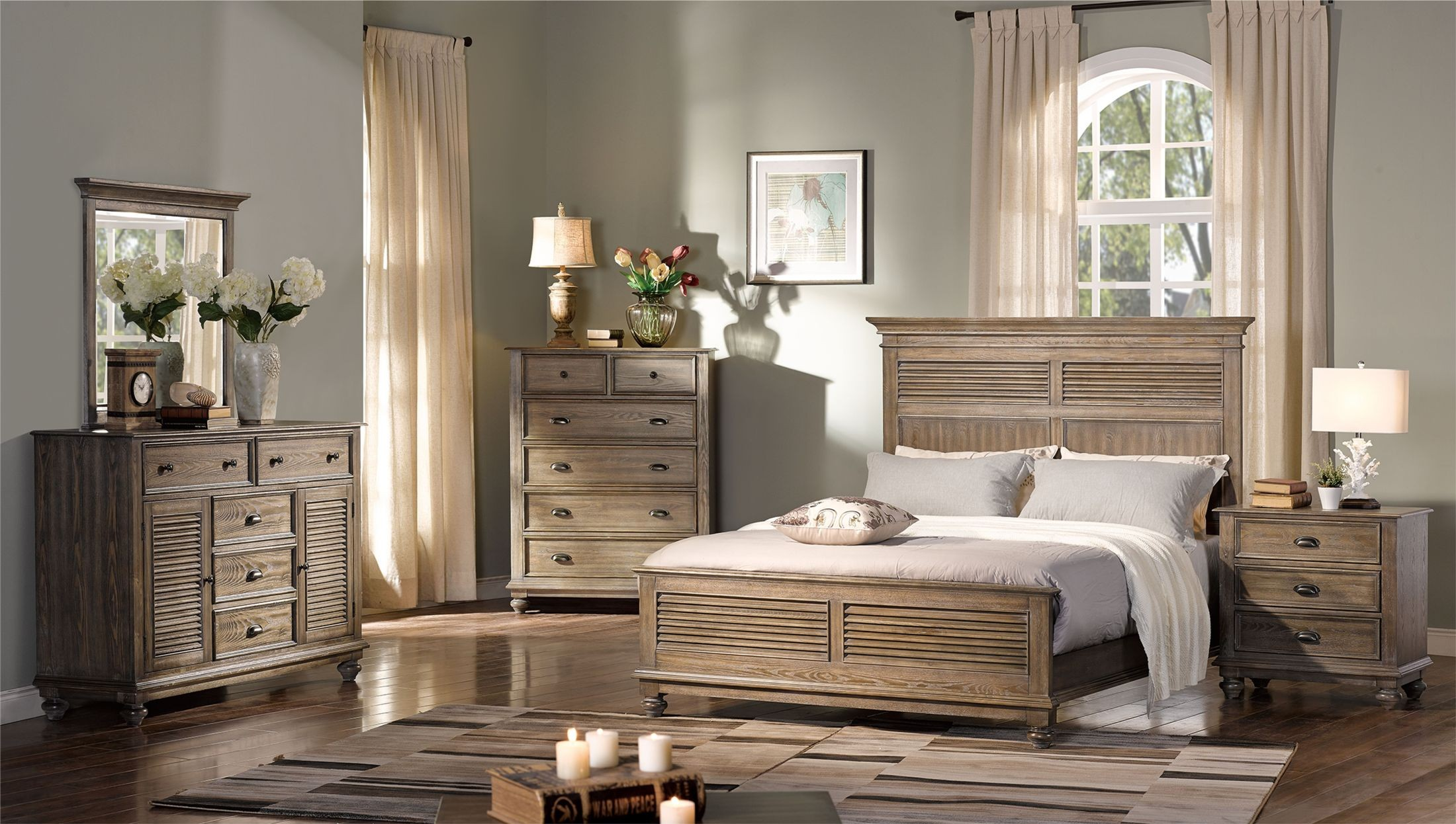 Lakeport Pewter Panel Bedroom Set From New Classic Coleman Furniture