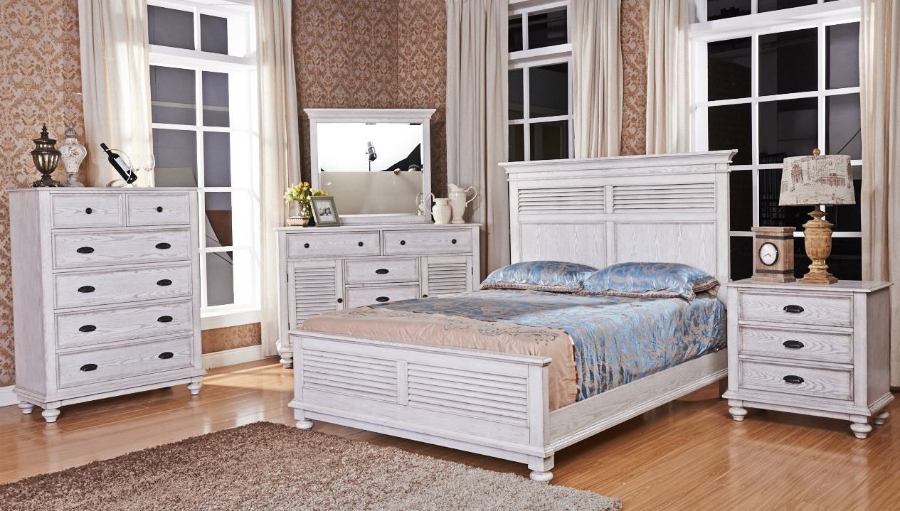 Lakeport Driftwood Panel Bedroom Set From New Classic Coleman Furniture