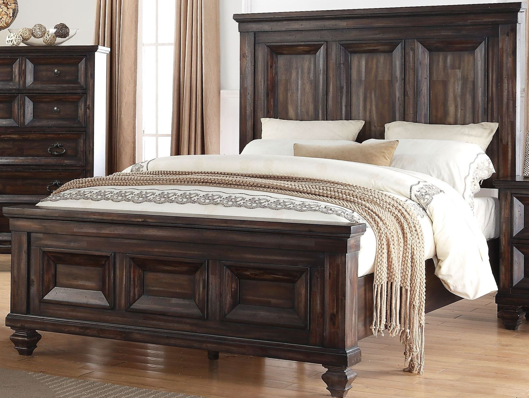 Sevilla Walnut King Panel Bed From New Classic Coleman