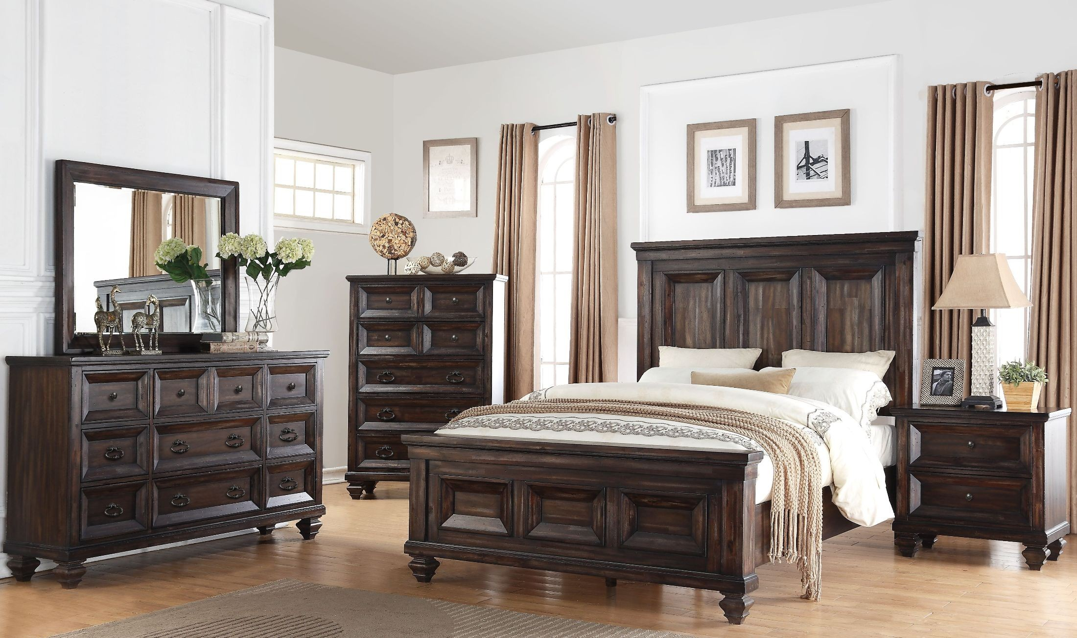 Sevilla Walnut Panel Bedroom Set From New Classic Coleman Furniture