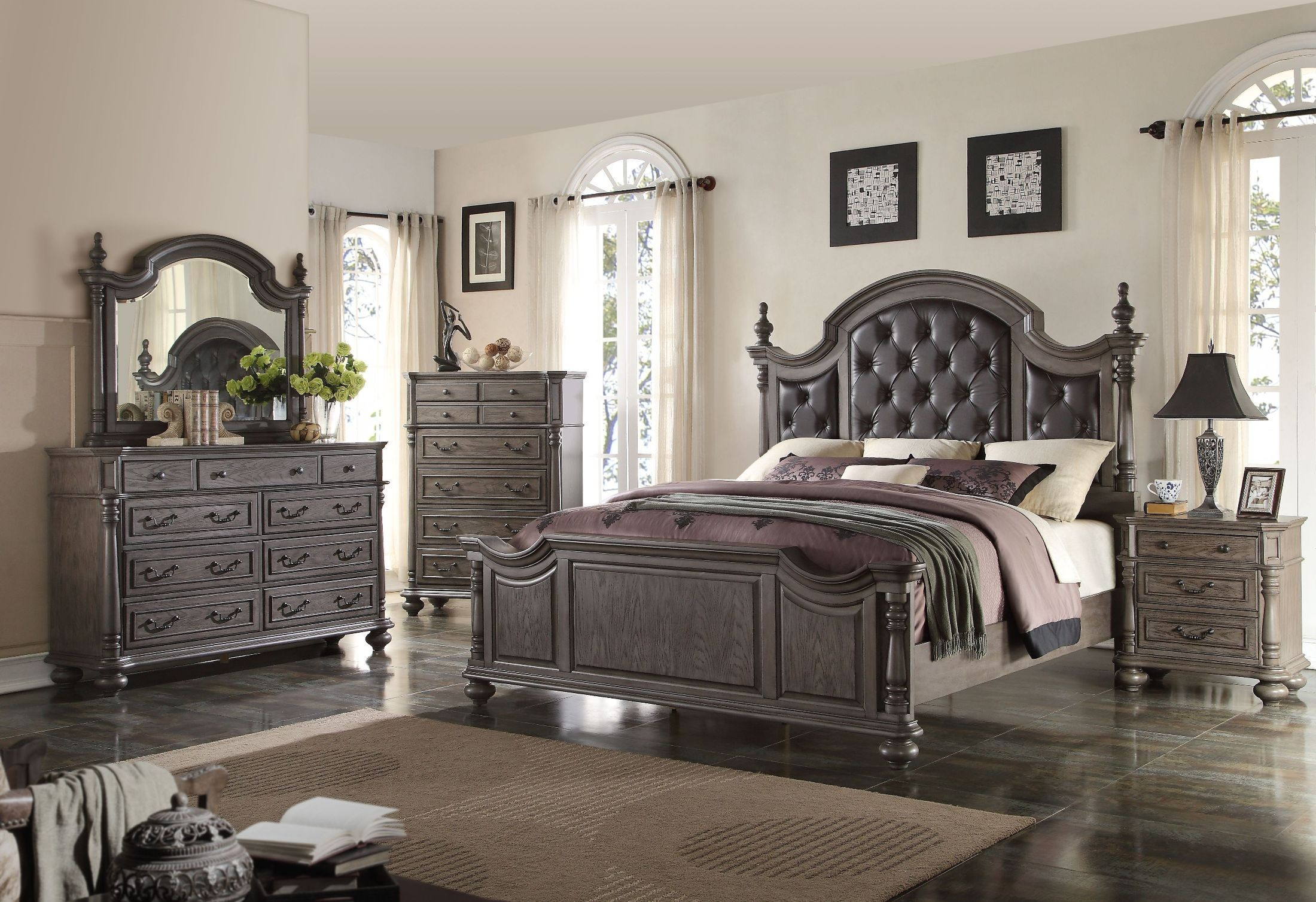 grey bedroom set monticello gray poster bedroom set b584 310 320 330 11748