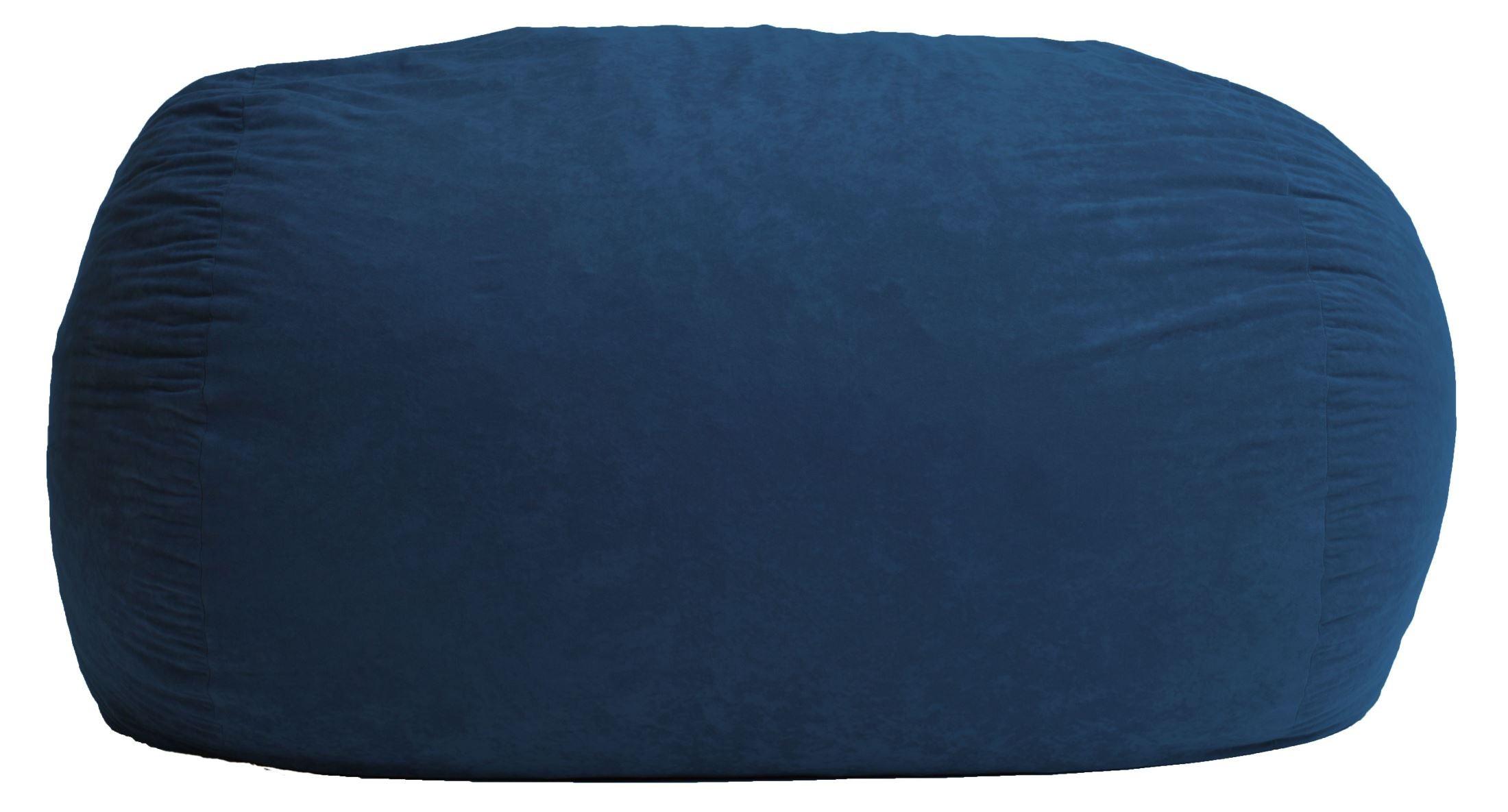 Big Joe Xxl Fuf Blue Sky Suede Comfort Bean Bag From