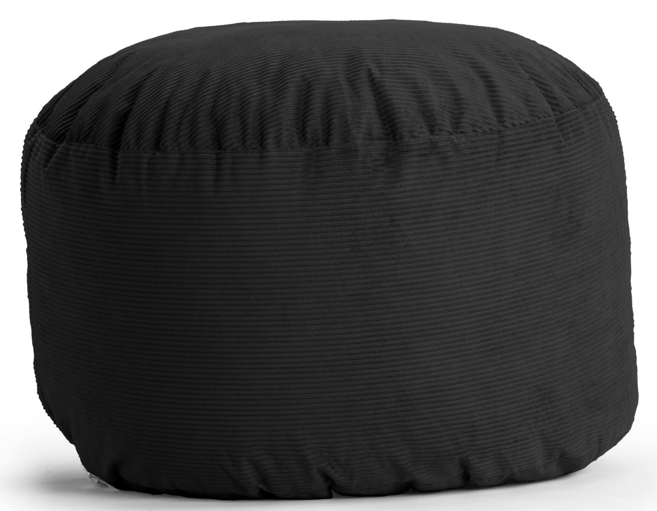 Big Joe King Fuf Black Wide Wale Corduroy Bean Bag From